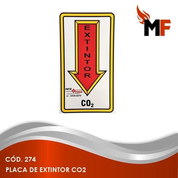 Placa de Extintor CO2