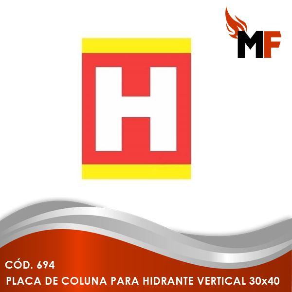 Placa de Coluna Hidrante Vertical 30x40