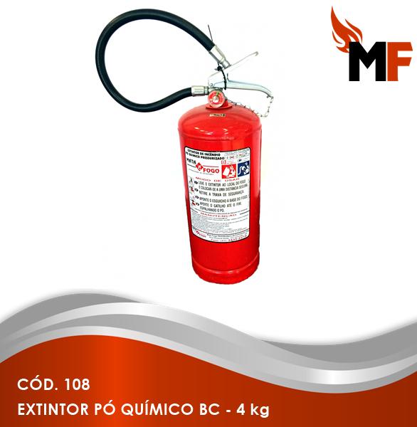 *Extintor Pó Químico BC - 4 kg