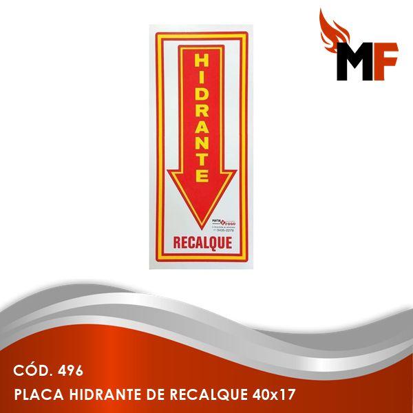 Placa Hidrante de Recalque 40x17