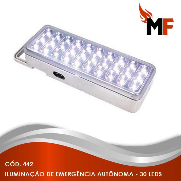 *Iluminação de Emergência Autônoma - 30 Leds