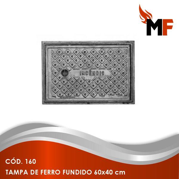 Tampa de Ferro Fundido 60x40 cm