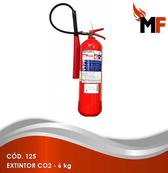 *Extintor CO2 - 6 kg