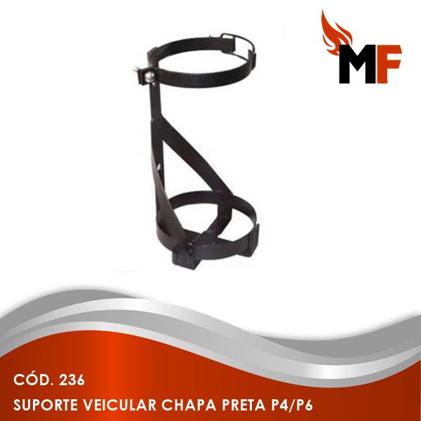 Suporte Veicular Chapa Preta P4/P6