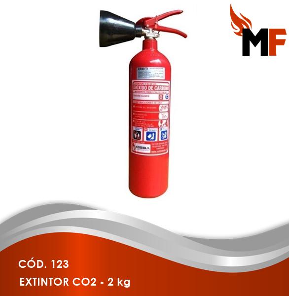 *Extintor CO2 - 2 kg