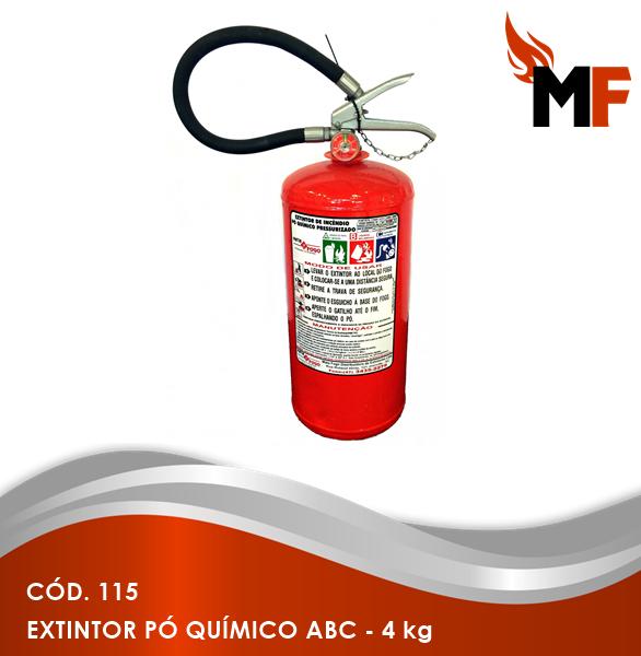 *Extintor Pó Químico ABC - 4 kg