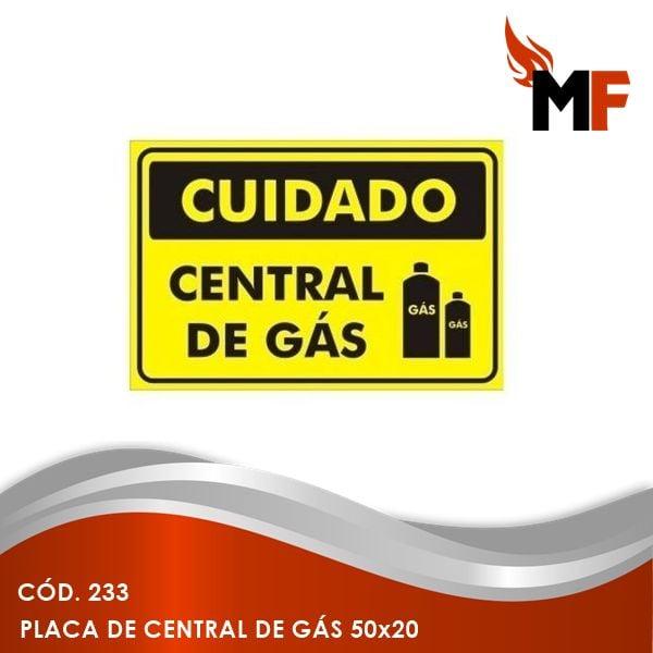 Placa de Central de Gás 50x20