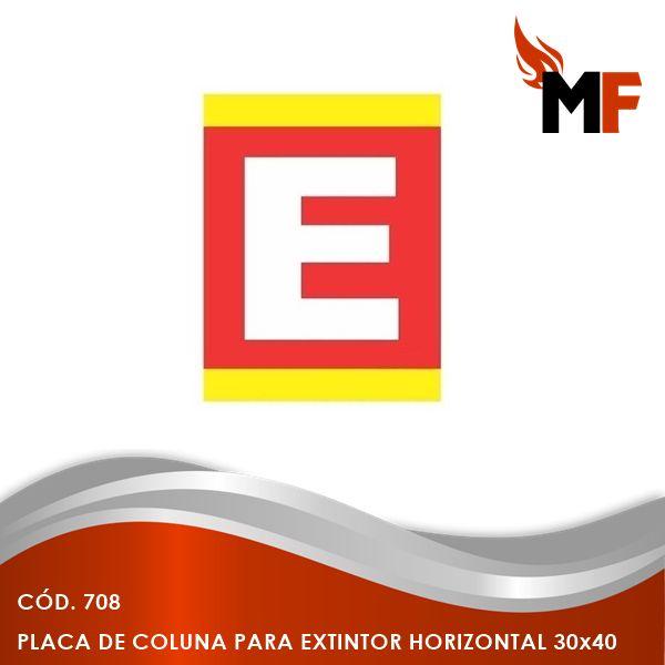Placa de Coluna Extintor Horizontal 30x40