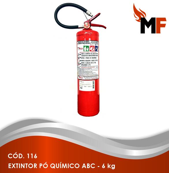 *Extintor Pó Químico ABC - 6 kg